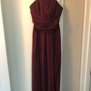Burgundy Max and Cleo Gown